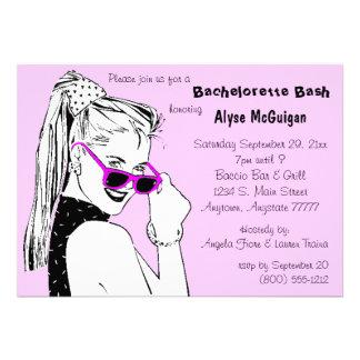 Bachelorette Bash Pink Invitation