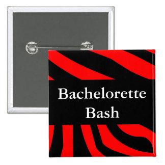 Bachelorette Bash Zebra Button