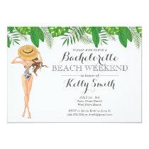 Bachelorette Beach Party Invitation