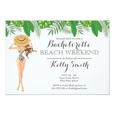 partypapercreations Bachelorette Beach Party Invitation