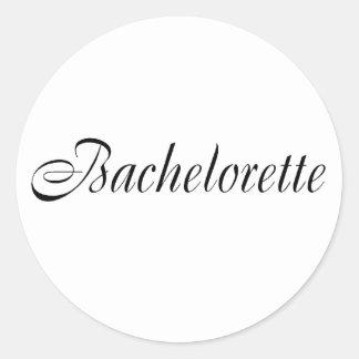 Bachelorette (Blk) Classic Round Sticker