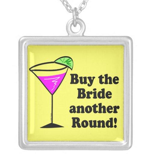 Bachelorette Buy the Bride a Round Square Pendant Necklace