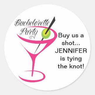 Bachelorette_Buy us a shot_Stickers Classic Round Sticker