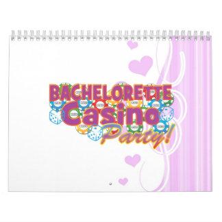 bachelorette casino party wedding bridal shower calendar