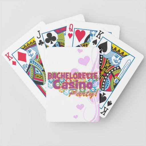 bachelorette casino party wedding bridal shower bicycle playing cards