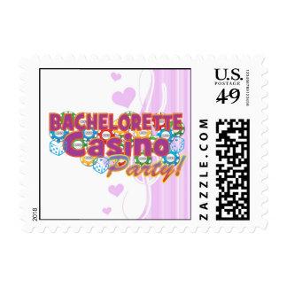 bachelorette casino party wedding bridal shower postage stamp