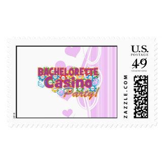 bachelorette casino party wedding bridal shower postage