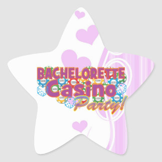 bachelorette casino party wedding bridal shower star sticker