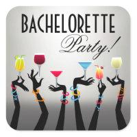 Bachelorette Cocktail Party Sticker