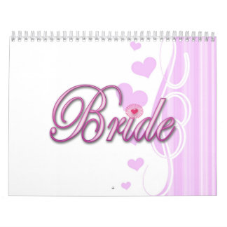 bachelorette de la novia que casa el fiesta de calendario de pared