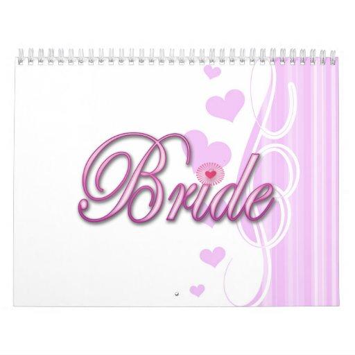 bachelorette de la novia que casa el fiesta de duc calendario de pared