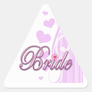 bachelorette de la novia que casa el fiesta de pegatina triangular