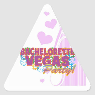 Bachelorette de Las Vegas que casa el fiesta de Pegatina Triangular