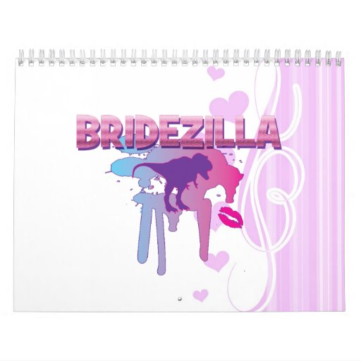bachelorette del bridezilla que casa la ducha nupc calendarios de pared