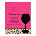bachelorette del vino del estampado leopardo comunicados