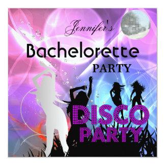 Bachelorette Disco Party Black Pink Card