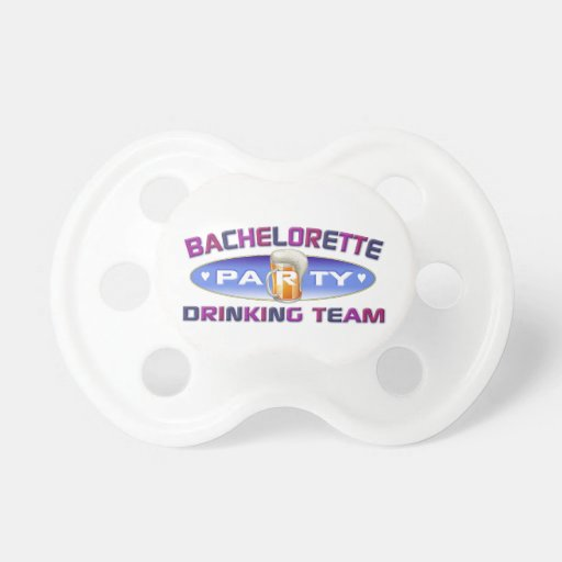 bachelorette drinking team bridal wedding party BooginHead pacifier