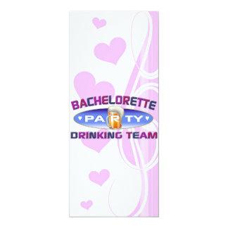 bachelorette drinking team party bridal wedding invites
