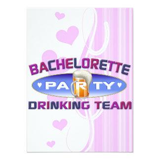 bachelorette drinking team party bridal wedding invitations