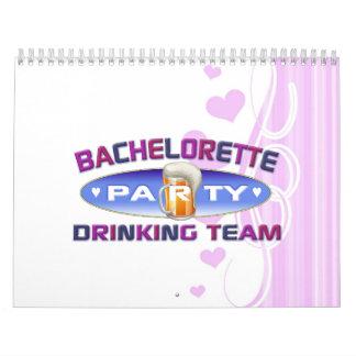 bachelorette drinking team party bridal wedding calendar