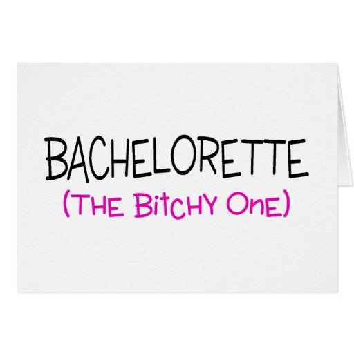 Bachelorette el malintencionado tarjeta de felicitación