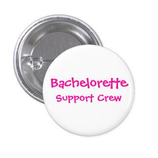 Bachelorette, equipo de la ayuda pin redondo de 1 pulgada