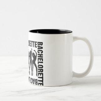 Bachelorette (five girls) Two-Tone coffee mug