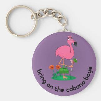 Bachelorette Flamingo/Cabana Boys Keychain