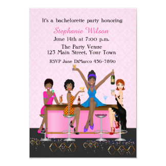 Bachelorette Girl's Night Out, African American Card