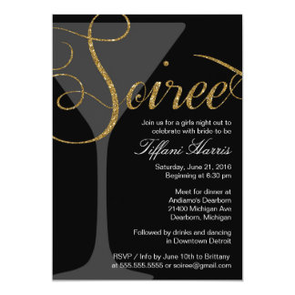 Bachelorette Girls Night Out Soiree Invitation