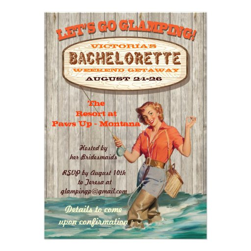 Bachelorette Glamping Camping Weekend Invitation