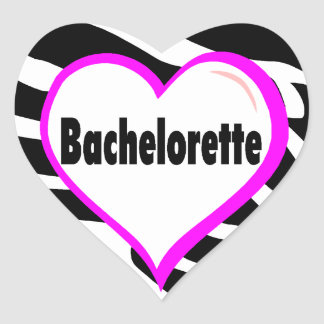 Bachelorette (Heart Zebra Stripes) Stickers
