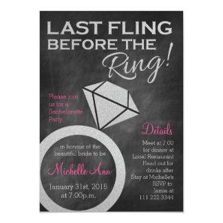 Bachelorette invita por último a Fling antes del Invitación 12,7 X 17,8 Cm