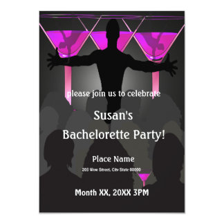 "Bachelorette Ladies Night Party Invitation 4.5"" X 6.25"" Invitation Card"