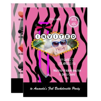 Bachelorette Las Vegas themed Casino Party photo Card