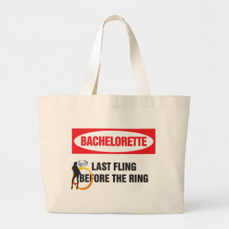 Bachelorette last fling before the ring large tote bag