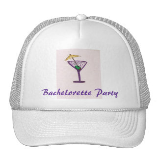 Bachelorette Martini Party Trucker Hat