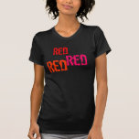 Bachelorette/novia/rojo rojo rojo camiseta