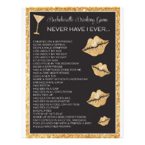 Bachelorette or Hen Party Game, Bridal Shower Game Flyer