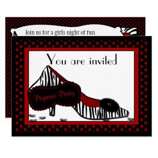 Bachelorette Pajama Party in Reds Invitation
