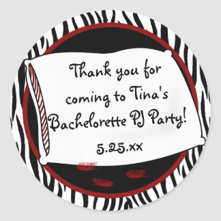 Bachelorette Pajama Party in Reds Sticker