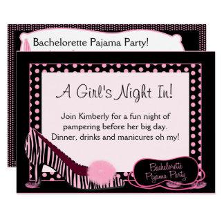 Bachelorette Pajama Party Invitation
