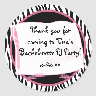 Bachelorette Pajama Party Sticker