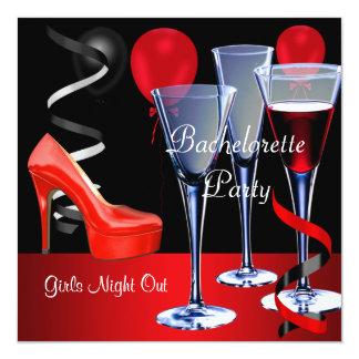 Bachelorette Parties Red Shoe Hi Heels Wine Card
