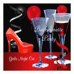 Bachelorette Parties Red Shoe Hi Heels Wine Personalized Invitation