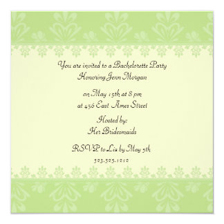 """Bachelorette Party 5.25"""" Square Invitation Card"""