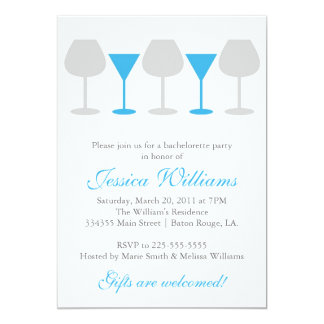 Bachelorette Party 5x7 Paper Invitation Card