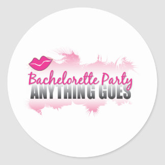 Bachelorette Party- Anything Goes! Stickers