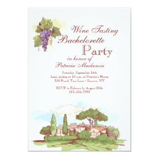 Bachelorette Party at the Vineyard Invitation