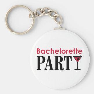 Bachelorette party basic round button keychain